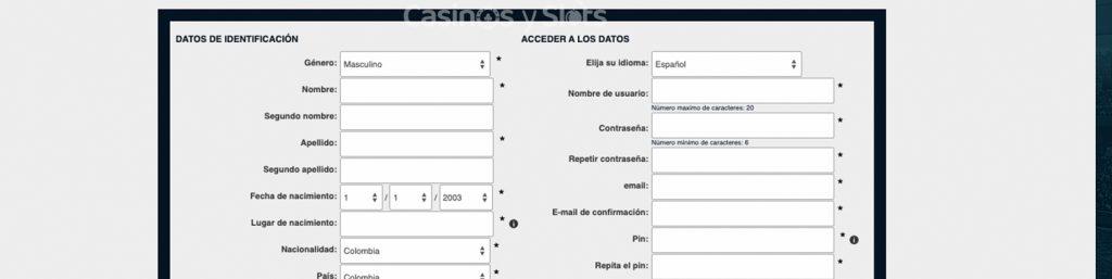 formulario colbet